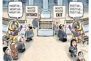 Sack cartoon: White House visitors