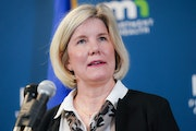 Infectious Disease Director Kris Ehresmann, pictured at a briefing in January 2020.