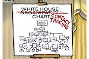 Sack cartoon: White House contact tracing