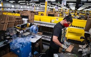 Amazon's Shakopee fulfillment center.