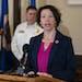 FILE - Duluth Mayor Emily Larson.