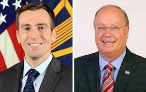 Democrat Dan Feehan, left, and Republican Rep. Jim Hagedorn