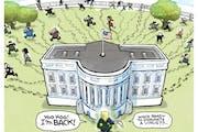 Sack cartoon: Trump's back