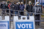 Voters waited at the elections and voters services building at 980 E. Hennepin Av. in Minneapolis on Oct. 16.