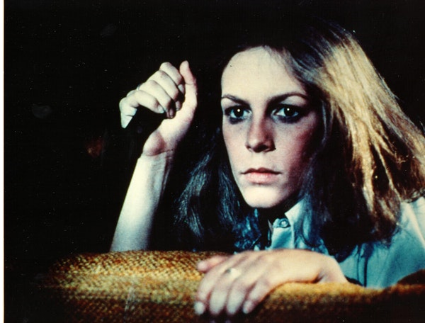 """Jamie Lee Curtis in a scene from the 1978 horror film classic, """"Halloween,"""" directed by John Carpenter."""