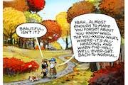 Sack cartoon: A beautiful day