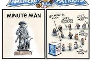 Sack cartoon: American patriots