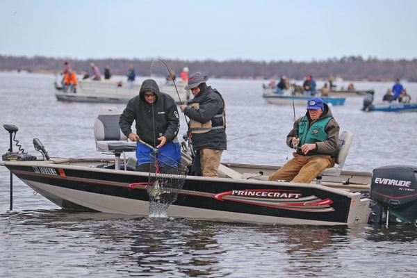 A crowded 2020 fishing opener on Upper Red Lake. The walleye bag limit on the lake will be cut from four to three under new regulations announced Mond