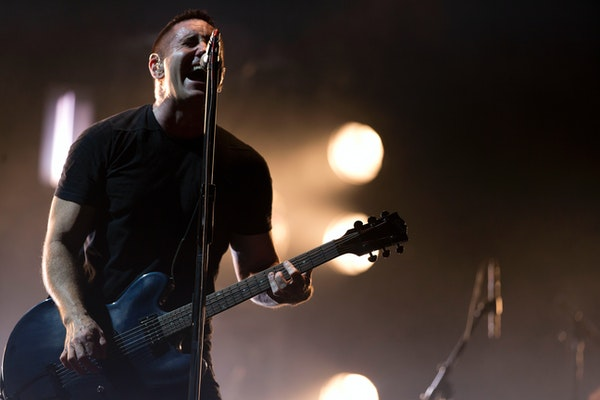 Trent Reznor of Nine Inch Nails performs at the Vive Latino music festival in Mexico City, Mexico. The band will be inducted into the Rock and Roll Ha