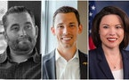 Adam Weeks, left, Tyler Kistner and Angie Craig squared off in the Second District, but Weeks, the Legal Marijuana Now candidate, died before the elec