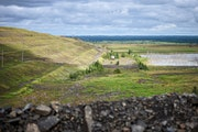 Once work begins at PolyMet mine near Hoyt Lakes, Minn., this tailings basin will be put back into use.