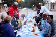 Neighbors gathered during Ramadan for an iftar dinner sponsored by Healthy Together Willmar, a community-led project for breaking down barriers to hea