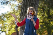 Democratic U.S. Sen. Tina Smith urged students at the University of Minnesota in Minneapolis to recruit at least three friends to vote.