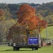 A Trump/Pence sign on a hay wagon in Freeport, Pa., on Oct. 15. U.S. farmers have received a record $40 billion in aid in 2020 from the federal govern