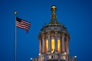 The Minnesota State Capitol was illuminated earlier this year.