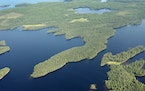 Basswood Lake lies partly in Canada and partly in the Boundary Waters Canoe Area Wilderness.