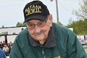 Walt Straka, 101, is shown in 2019. Minnesota's lone survivor of World War II's Bataan Death March, Straka was a 22-year-old shoemaker's son and