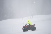Maintenance crew member Craig Lee rode an ATV to check on the snow-making equipment at Hyland Hills Ski Area on Tuesday afternoon.