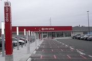 """Target on Lake Street in Minneapolis. Its """"drive up"""" service is booming. It allows customers to order over a smartphone and drive to the store once"""