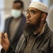 Imam Mohamed Mukhtar of the Dar Al Farooq Mosque spoke at a news conference at the federal court house in St, Paul on Monday, Nov. 9, the first day of