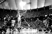 Jalen Rose and Michigan's Fab Five stormed into the title game in their freshman year, beating a talented Cincinnati team coached by Bob Huggins in