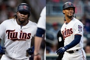 Miguel Sano, left, and Byron Buxton were the future of Twins baseball just a few seasons ago, but their ongoing struggles have the organization concer