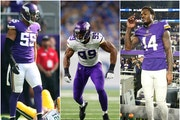 Anthony Barr (left to right), Danielle Hunter and Stefon Diggs are all in line for new contracts, putting pressure on the VIkings' Rob Brzezinski.