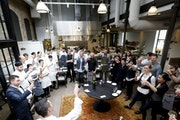 Chef and owner of Spoon and Stable Gavin Kaysen toasted the staff on the day the restaurant was nominated for Best New Restaurant by The James Beard F