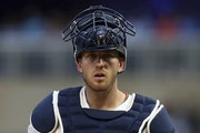 Twins catcher Mitch Garver remains an intriguing hitting prospect, but needs work behind the plate.