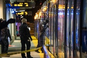 Metro Transit Police investigated a shooting on a Green Line train at Rice Street and University Avenue W. in St. Paul on Monday, Nov. 16.