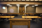 A Hennepin County courtroom in Minneapolis.