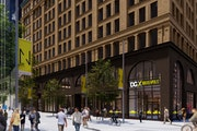 This artist's rendition shows Dollar General's planned DGX store on the Nicollet Mall.