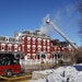 Fire crews are still on the scene Friday morning in the aftermath of the fire that heavily damaged the 143-year-old Archer House Inn in Northfield.