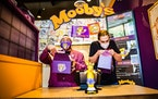 """Kevin Smith and Jason Mews of """"Jay and Silent Bob"""" fame at a previous pop-up installment of Mooby's."""