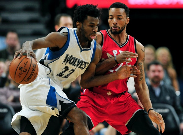 Wolves forward Andrew Wiggins had 31 points and six assists against Toronto on Wednesday night, including the pass that led to the game-winning shot b