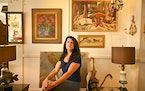 AARON LAVINSKY • aaron.lavinsky@startribune.com  One of a kind: Kelly Wallace of A Rare Bird Antiques says don't hesitate to buy vintage art you l
