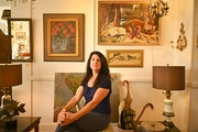 Kelly Wallace of A Rare Bird Antiques says don't hesitate to buy vintage art you love.