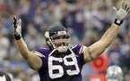 Jared Allen ranks 12th on the NFL's career sacks list with 136. Allen had 85 1/2 of his sacks in six seasons with the Vikings (2008-13).