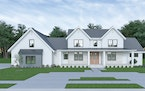Provided    Farmhouse plan goes with the flow.