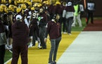 Gophers football coach P.J. Fleck walked the sideline during the Nov. 13 game against Iowa.