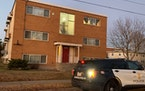 On Friday, Nov. 27, 2020, Minneapolis police were investigating a shooting inside this apartment building.