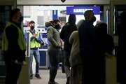 Black Friday shoppers file into Best Buy for the electronics retailer's early 5 a.m. opening Friday in Richfield.