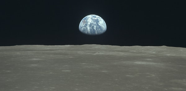 Earth as seen from the Apollo 11 lunar mission in July 1969. Amid today's uncertainty, it's important to look at the bigger picture and remember h