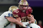 Reid Patterson (10) and Lakeville South were ranked No. 1 all season. Should they stay there?