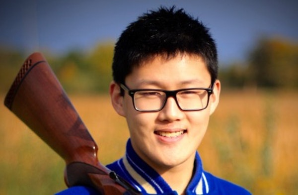 """Zijun """"Vector"""" Zhang is a senior exchange student from China, studying at the Academy of Holy Angels and a top trapshooter on the school team."""