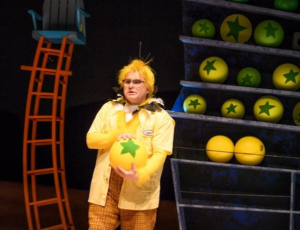 """Reed Sigmund as Diggitch in """"Dr. Seuss' The Sneetches"""" at Children's Theater."""