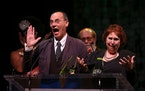 Illusion administrators Michael Robins and Bonnie Morris received a lifetime achievement award at the 2014 Ivey Awards.