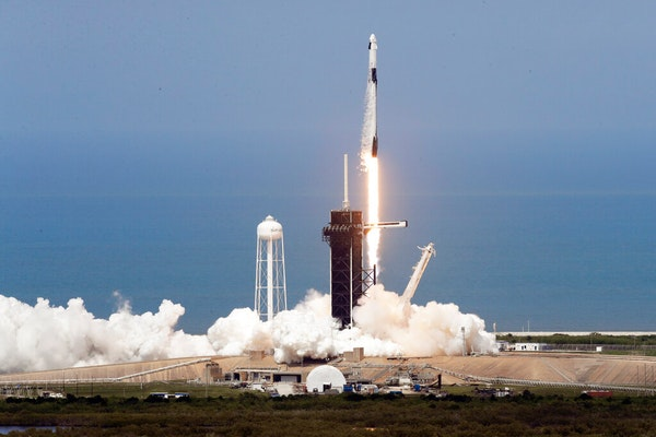 TEST: SpaceX rocket launch video