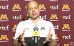 Gophers coach P.J. Fleck spoke to reporters during Monday's video news conference.
