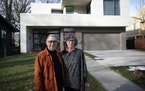 David and Barbara Eijadi built their modern home, designed by Peterssen/Keller Architecture, on an empty lot facing the Mississippi River in Minneapol